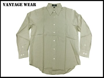 VANTAGE USA 新 【ベイジ色-S】 Vantage シャツ アメリカカ輸入品