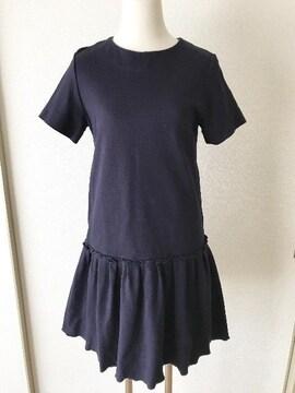 [FREE'S PHRASE]★ネイビーカラー・半袖ワンピース[FR]★