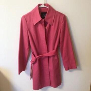 セシルマクビー濃いピンク トレンチコート上着ジャケット
