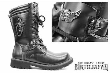 送料込 ロングブーツ 靴 メンズ シューズ カジュアル オラオラ ホスト 109 黒 27.0