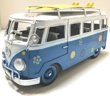 一点物ブリキのおもちゃシリーズ�Cワーゲンバス風ブリキ