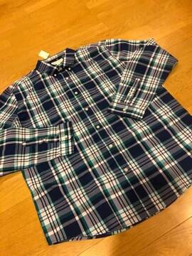 エアロポステール   チェック長袖シャツ  青系  size2XL  新品