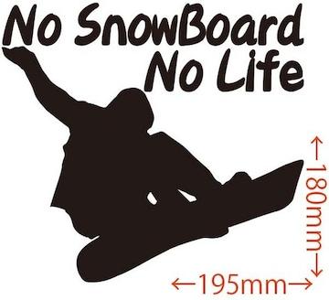 ステッカー No SnowBoard No Life (スノーボード)・11