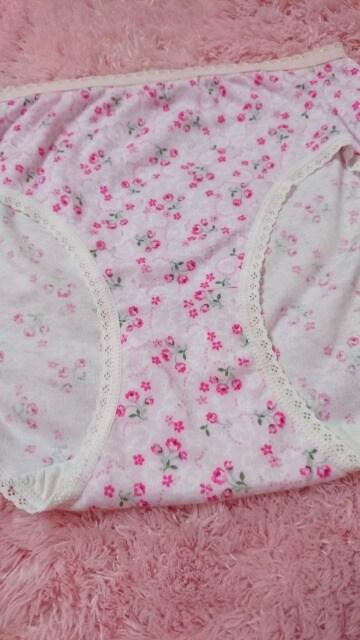 ☆.。.*pinkフラワ〜 コットンぱんてぃ L*.。.☆  < 女性ファッションの