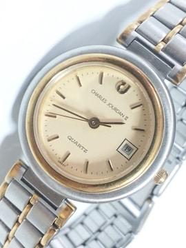 12377/CHARLESJOURDAN2★高級感漂うゴールドコンビ仕様レディース腕時計
