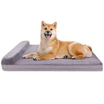 グレー サイズ80*60*5cm JoicyCo 犬 ベッド クッション性が抜群
