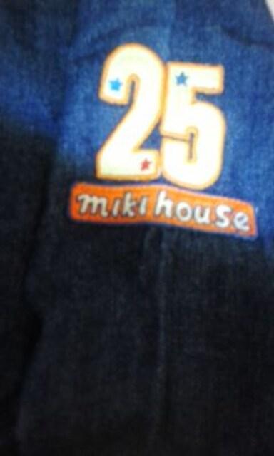 ミキハウスデニムシャツ140美品 < ブランドの