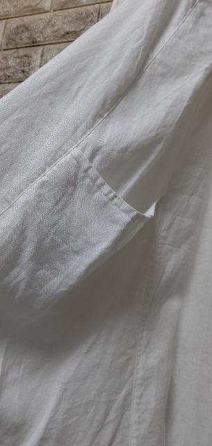 **08Mab サイドポケット キャミワンピース  オフホワイト