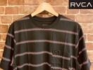 表記M/新品!ルーカ RVCA ロゴ 総柄 ボーダー Tシャツ カリフォルニア サーフ アメカジ