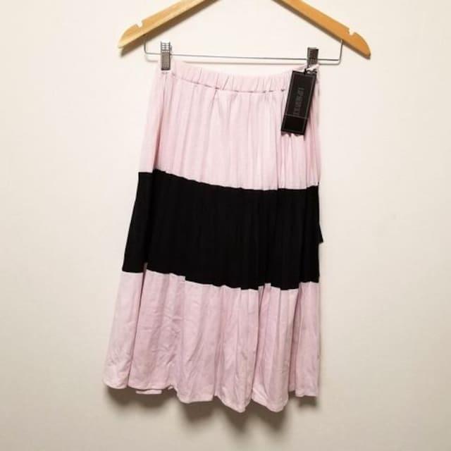 新品◆LIP SERVICE◆ピンク黒BIGリボン付プリーツスカート < ブランドの