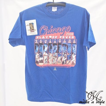 CHICAGO CUBS MLB シカゴ カブス TEE Tシャツ 青 2008 174 L