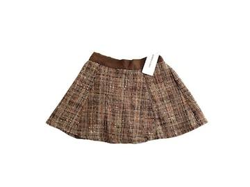 新品 定価5900円 アズノウアズ  ツイード フレア ミニ スカート