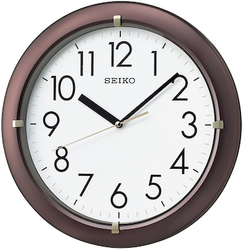セイコー クロック 掛け時計 アナログ 茶 メタリック KX621B
