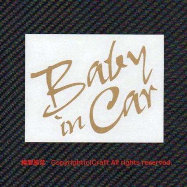 Baby in Car/ステッカー(金/gyo-type) < キッズ/ベビーの