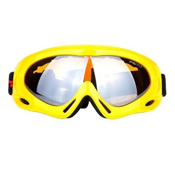 ゴーグル スキー スノボー UVカット イエロー