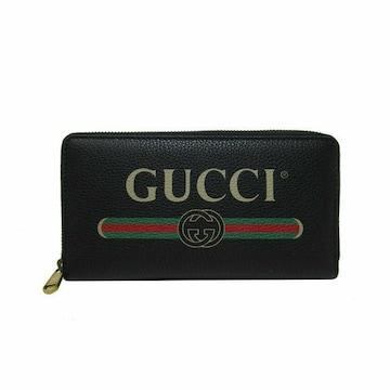 GUCCI アウトレット 496317-OGCAT-8163 ファスナー長財布