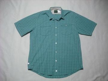 26 男 TIMBERLAND ティンバーランド 半袖チェックシャツ Mサイズ
