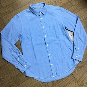 美品 JOURNAL STANDARD レザー使用 シャンブレーシャツ