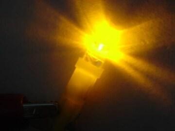 激照! T5型LED円柱ウェッジ球 オレンジ