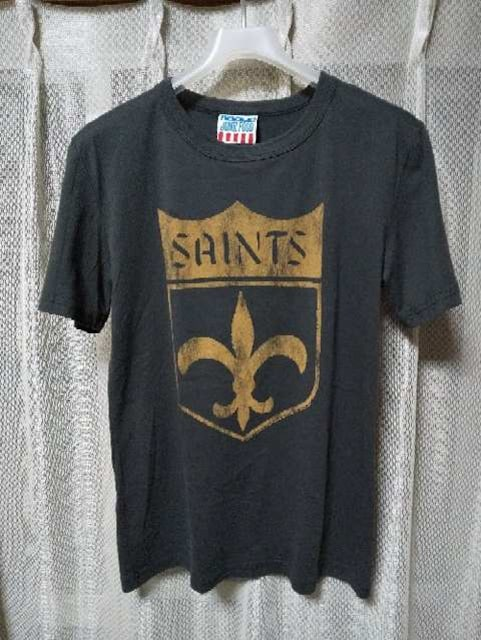 ジャンクフード プリント 半袖Tシャツ Sサイズ ユーズド加工 黒 グレー USA製 RRL  < ブランドの