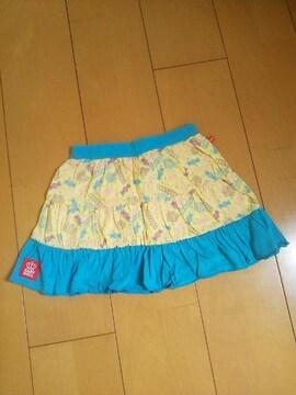 新品カラフルPOPスカート水色110ベビドBABYDOLLベビードール