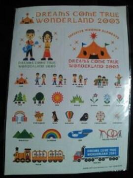 ドリカム ワンダーランド ライブ コンサート ツアー 2003 アニメーション シール
