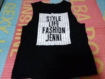 JENNI袖なしロゴTシャツ160ブラック