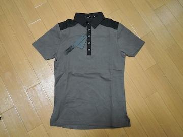 新品シェラックSHELLAC切替ポロシャツ44CL黒定価半額以下