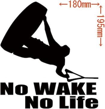 カッティングステッカー No WAKE No Life (ウェイクボード)・2