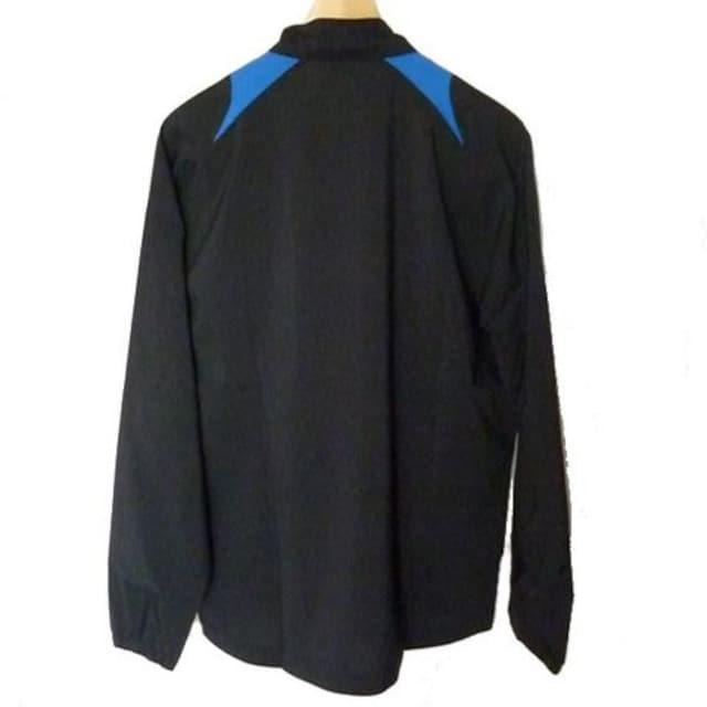 新品●asics 黒3色ライン入りウインドブレーカー(M) < 男性ファッションの