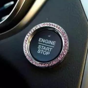 エンジンスタート プッシュボタンリング(ピンク)