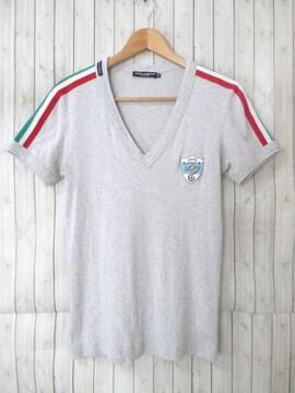 ☆DOLCE&GABBANA/ドルチェアンドガッバーナ 半袖 Vネック Tシャツ/メンズ/48