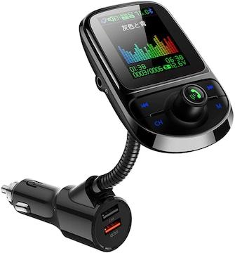 FMトランスミッター Bluetooth5.0 1.77inchカラースクリーン