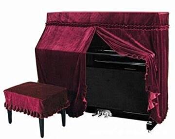 ベルベット ヨーロピアン 調 ピアノカバー 椅子 カバー 付き 2