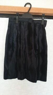 ベロア調 黒スカート