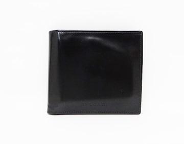 ブルガリ クラシコ ロゴ型押し レザー 二つ折り財布 ブラック【送料無料】