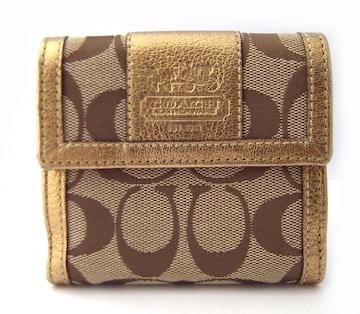 正規新品同様コーチスモールウォレット財布二つ折り財布シグネ
