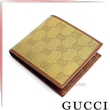 GUCCI 231847-faf30-7778 二つ折り財布 カーキ