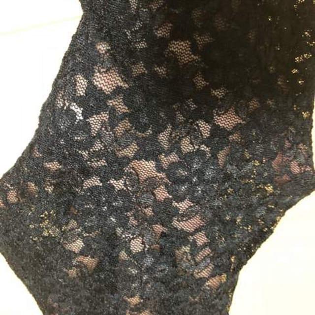 新品同様 レース トレンカ ブラック < 女性ファッションの