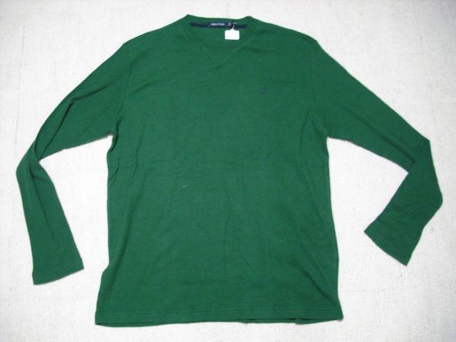 男 ノーティカ 鹿の子長袖Tシャツ L  < ブランドの