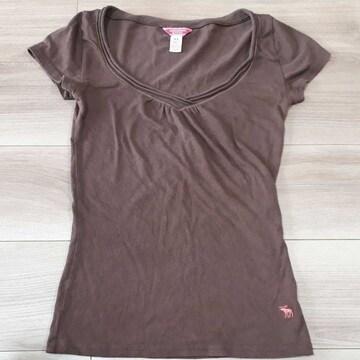 アバクロ Tシャツ ブラウン XS