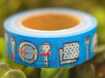 台湾製 ひげカトラリー食器 マスキングテープ