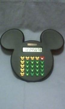 ☆ミッキーマウス☆シルエット型電卓☆黒☆ディズニー☆サンリオ製☆