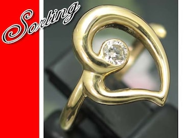 新品同様★K18 ハート 一粒ダイヤモンド 18金 K18★2828