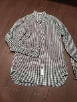 レアセル ギンガムチェックシャツ ブラック