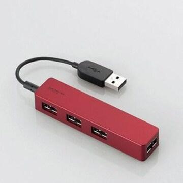 ☆ELECOM U2H-DS01BRD [レッド] USBハブ