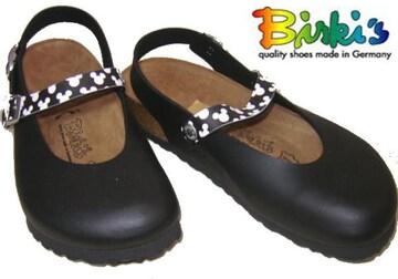 ビルケンシュトック ビルキ ディズニーミッキーマウス黒リカ38