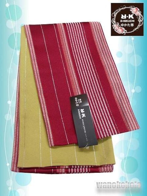 【和の志】RKブランド◇浴衣用小袋帯◇赤系◇YKB-107  < 女性ファッションの
