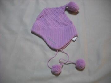 wb41 女 BILLABONG ビラボン 耳当て ボンボン付き ニット帽