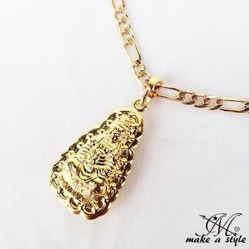ブッダ 仏教 フィガロ チェーン 金 ゴールド GOLD ネックレス587